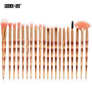 Image 2 - MAANGE 20Pcs Makeup Brushes Set Diomand Powder Eye Shadow Foundation Concealer Blush Lip Make Up Brushes brochas para maquillaje