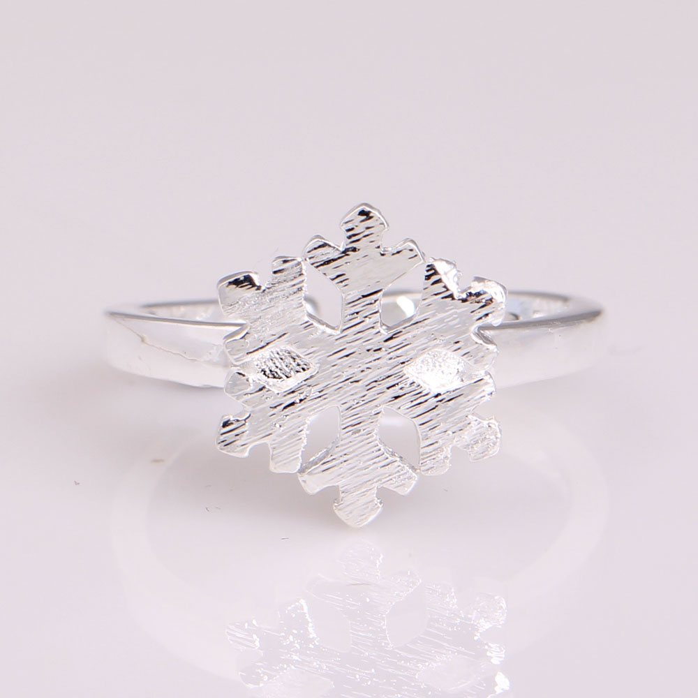 cheap snowflake ring silver plated online jewelry factory us 7 8 9 stock 1pc free shipping - Cheap Wedding Rings Online