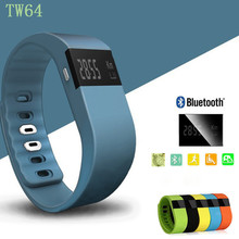 TW64 SmartWatch Bluetooth SmartBand Спорт Браслет Смарт часы Часы браслет Водонепроницаемый для iPhone IOS Android