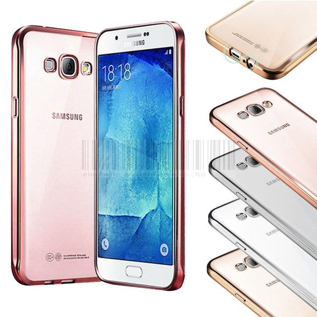d7e953d1afe Phone Case For Samsung Galaxy J7 J700 J700F Luxury Chromed Frame TPU+Gel  Flexible Soft