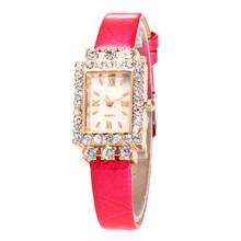 Plac luksusowe kobiety Rhinestone zegarki damskie zegarek damski zegarek kwarcowy zegarek na rękę kobiet zegar kwarcowy zegarek Relogio Feminin 7 tanie tanio QUARTZ Stop Klamra Nie wodoodporne Moda casual Odporny na wstrząsy Brak 0709 Skóra 12MM 22cm 38mm Nie pakiet Szkło