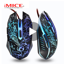 iMice Game Gaming Mouse Gamer Wired With Backlight Cable Wire RGB For Computer PC Laptop Ergonomic Mause Rato Gamerskaya Optical