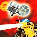 1 Pcs Lâmpada Motocicleta Levou Farol de Condução Nevoeiro Cabeça Luz Do Ponto 9 W 12 W 4 Contas de Led Smd Luzes Do Carro Drl Nevoeiro luzes
