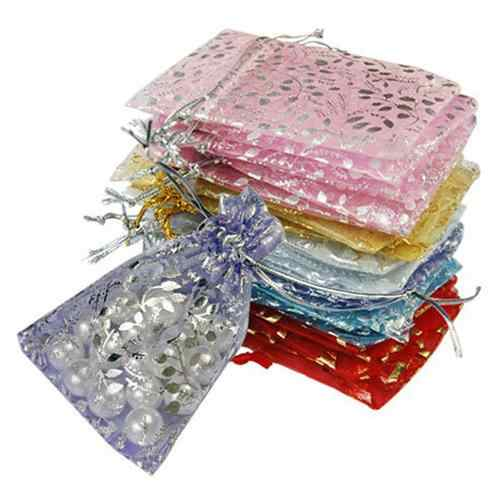 Hot 25 Pcs Organza Jewelry Wedding Party Pouch Drawstring Gift Storage Bags 7cm*7cm Fashion