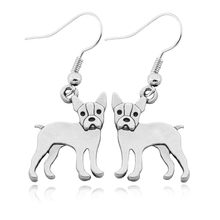 Retro Boston Terrier Brincos Love Drop Earring Boho Companion Dog Earrings For Women Girls Fashion Jewelry Pendientes Mujer(China)