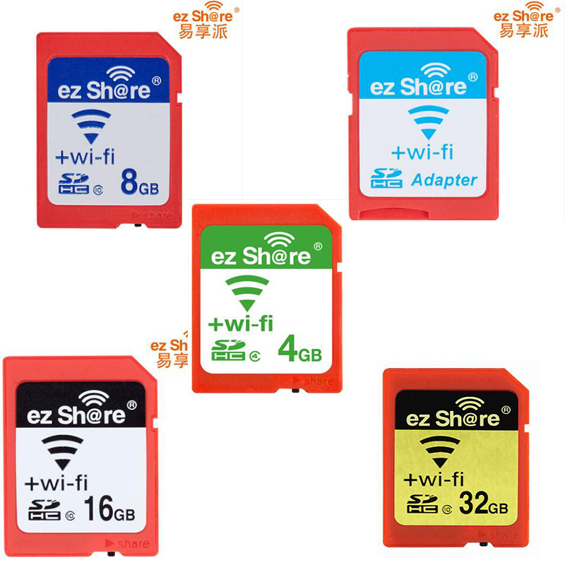 Free shipping ezshare EZ share micro sd adapter wifi wireless 8G 16G 32G memory card TF MicroSD adapter WiFi SD card free ride ezshare high speed wireless wifi wlan sd card adapter micro ez share sd card to sd wifi adapter 8gb 16gb 32gb tf card