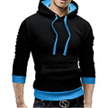 Hoodies Men 2017 Brand Male Long Sleeve Hoodie  Hit color Sweatshirt Mens Cardigan Moletom Masculino Hoodies Slim Tracksuit