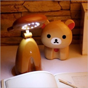 Free shipping Bear table lamp led charge touch switch creative night light ofhead reading light small table lamp