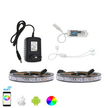 LED Strip Set 3528 RGB 10M/600LED Flexible Strip Light + Phone App Control MIni Wifi RGB Controller + 12V 3A Power Adapter