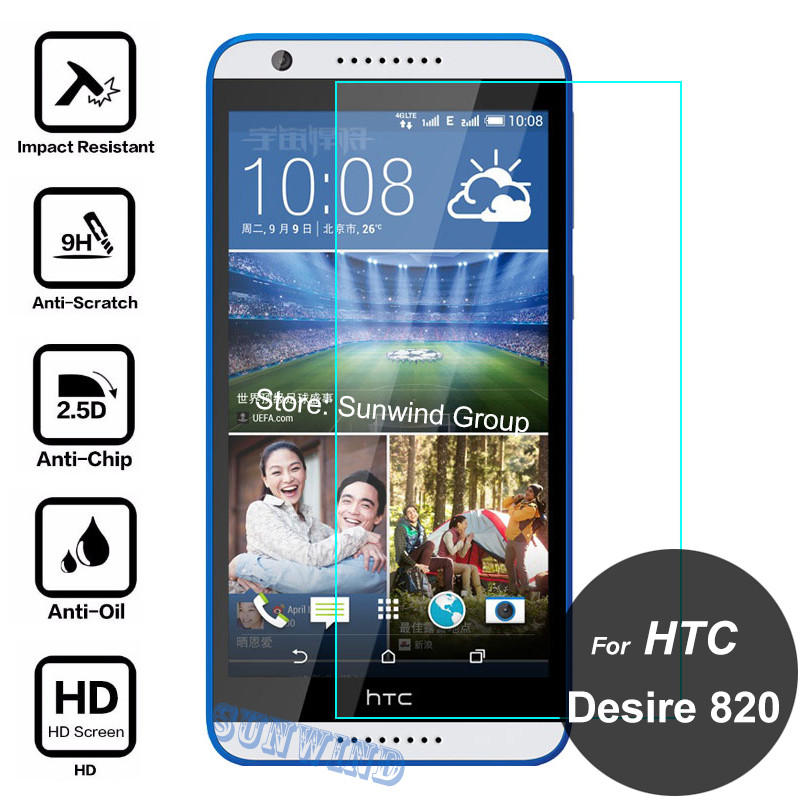 For HTC Desire 820 Dual Sim Screen Protector 2.5D 9H Tempered Glass Safety Protective Film On A51 D820n 820S D820s 820G+ D820us