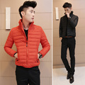 2016 male business casual fashion warm winter jacket/Male pure color stand collar fashion leisure coat/Cotton-padded clothes