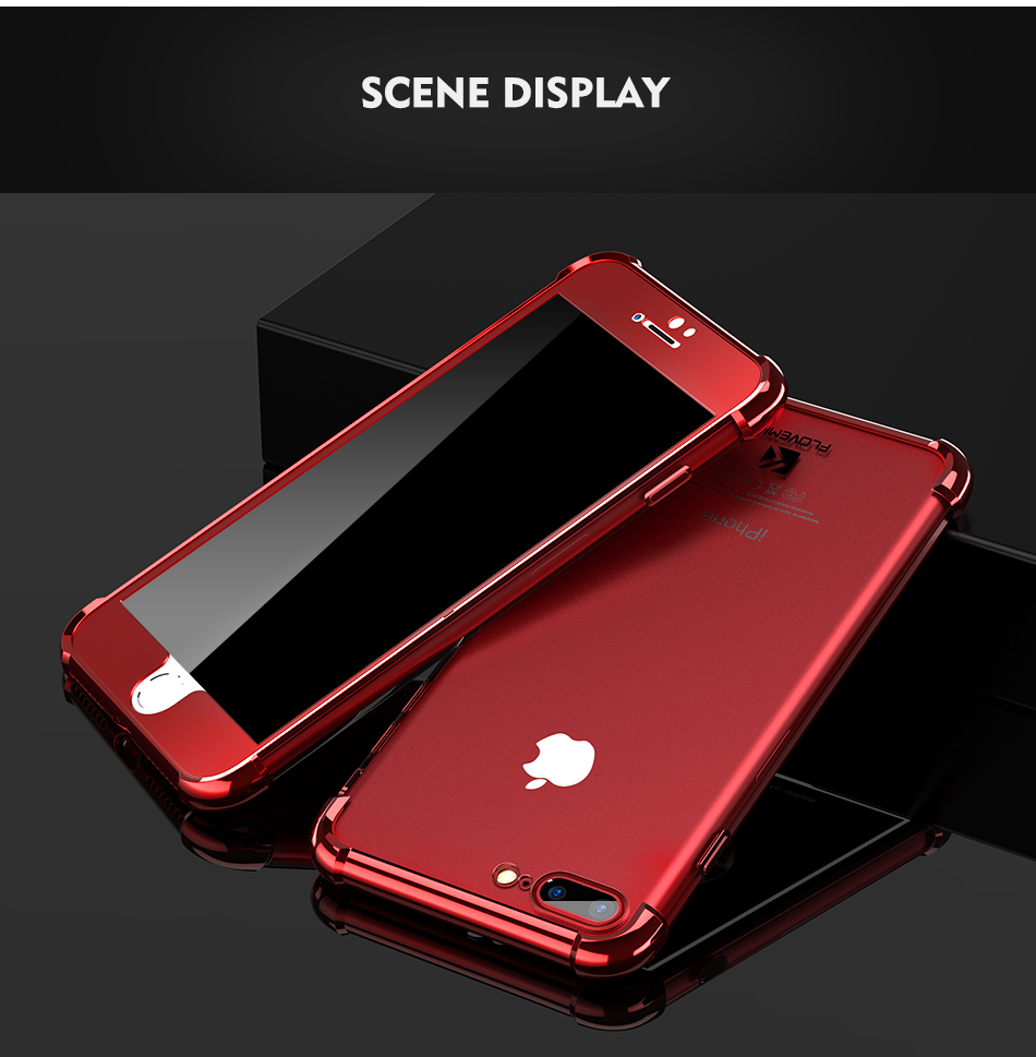 Anti Knock Case For iPhone 7 6S 6 Plus Case Luxury Plating Air Bag Clear 360 Full Body Coverage Cover For Samsung Galaxy S8 Plus (10)
