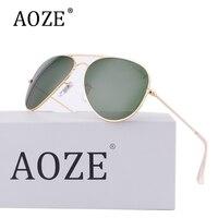 Lüks erkekler sürüş cam lensler Gradient Aviator güneş kadınlar G15 58mm 3025 Ayna Gafas óculos güneş gözlük Orijinal paketi