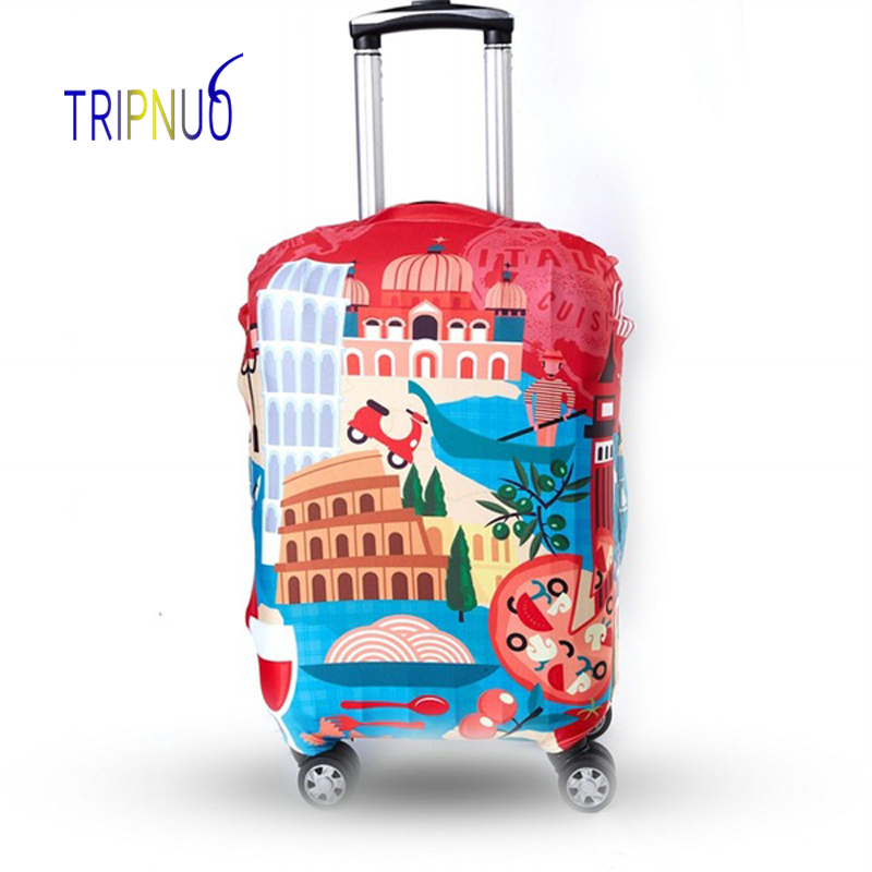TRIPNUO Red Cover for Suitcase Travel Elasticity Luggage Protective Covers Elastic Travel Accessories Trolley Cover