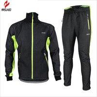 Brand Design Thermal Bike Jacket Windproof Sportswear Pants Fleece Ropa Ciclismo Racing Bicycle Bike Cycling Winter