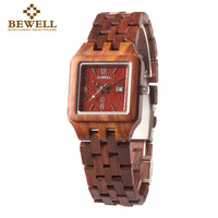 BEWELL Hot Sell Wooden Watches Vintage Watches Ladies Quartz Watch Women Casual Wood Wristwatches With Paper