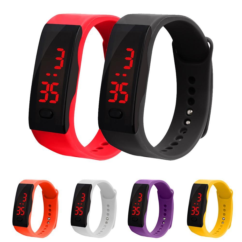 Wholesale Unisex Backlight Date Display Digital Wrist Watch Waterproof Smart Bracelet