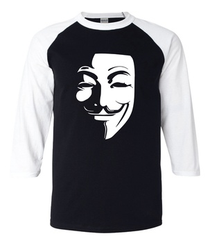 Movie Fans V for Vendetta 2017 summer raglan men t shirts 100% cotton high quality 3/4 sleeve o-neck t-shirts loose fit top tees