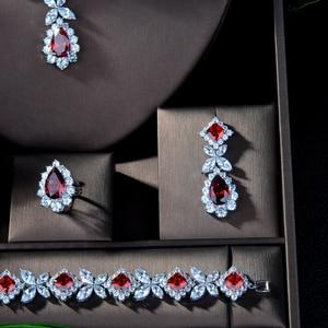 Image 3 - HIBRIDE Hotsale الأفريقي 4 قطعة الزفاف طقم مجوهرات s جديد أزياء دبي كامل طقم مجوهرات للنساء الزفاف حزب اكسسوارات N 314