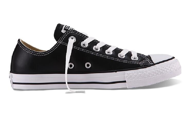 8f4570df3b 100% original Converse all star Chuck Taylor pu leather canvas shoes men  women sneakers low classic Skateboarding Shoes 132174