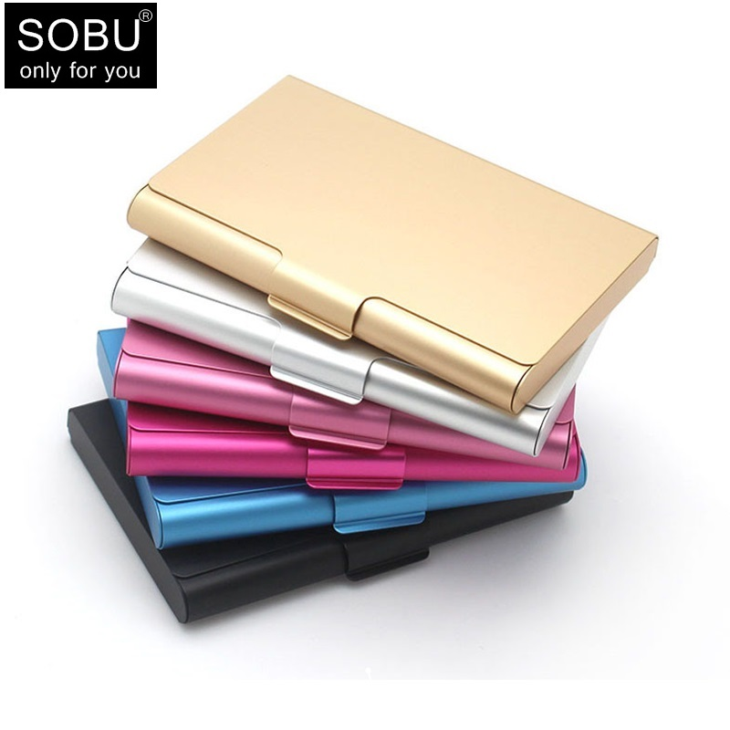 New business card case stainless steel Aluminum Holder Metal Box Cover Credit Men business card holder card metal Wallet H100 xiniu men metal high qualitid credit card holder automatic card sets pocket stainless steel metal business card holder case wmew