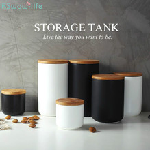 European Creative Kitchen Ceramic Sealed Cans Multi-grain Coffee Tea Seasoning Storage Tanks Household Supplies