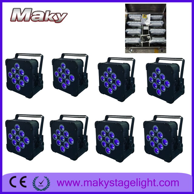 maky charging flight case 8xlot 918w rgbwa uv led wireless christmas lights battery operated