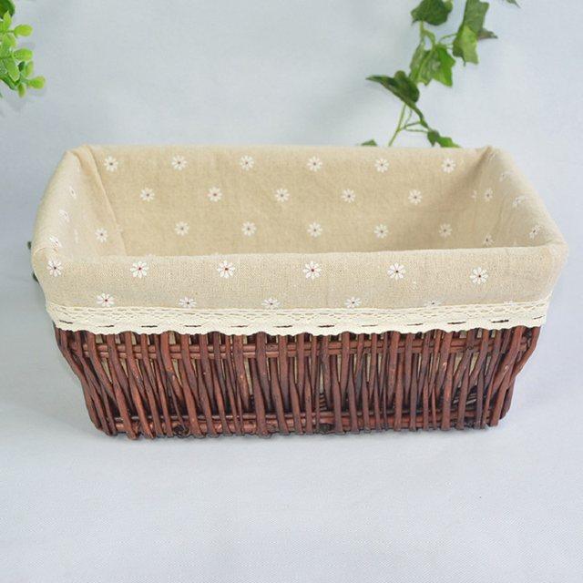 New Basket Storage Box Wicker Basket Fruit Decoration Panier Cesta Desktop Storage  Woven Baskets Crafts Home Decoration Supplies