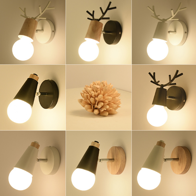 Creative bedside wall lamp simple hallway stairs lamps children room bedroom living room wall sconce modern bathroom wall light