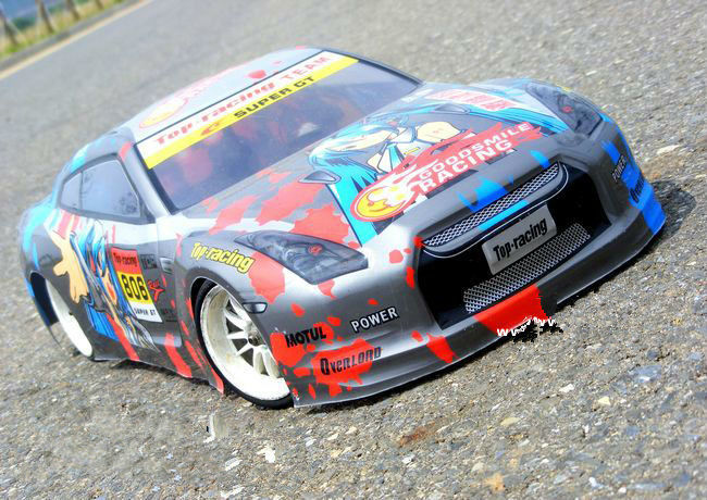 S037 GTR 1/10 1:10 PVC painted body shell for 1/10 RC hobby racing car 2pcs/lot free shipping
