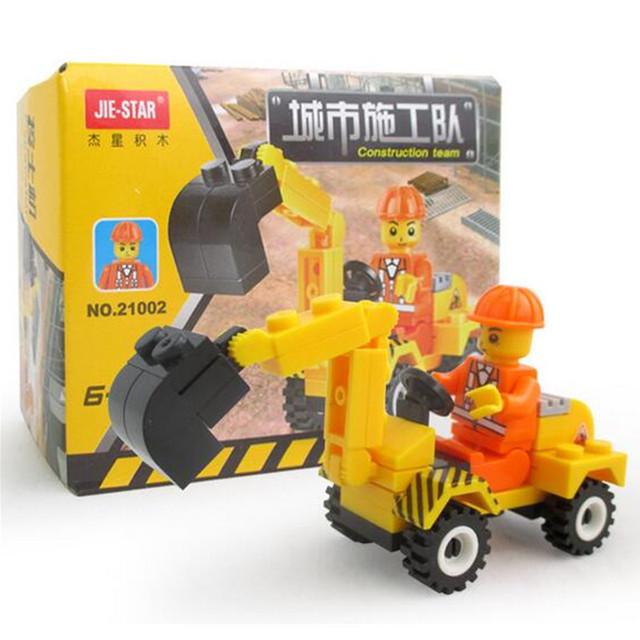 41pcs/set Building Blocks Excavator DIY Puzzle Toy