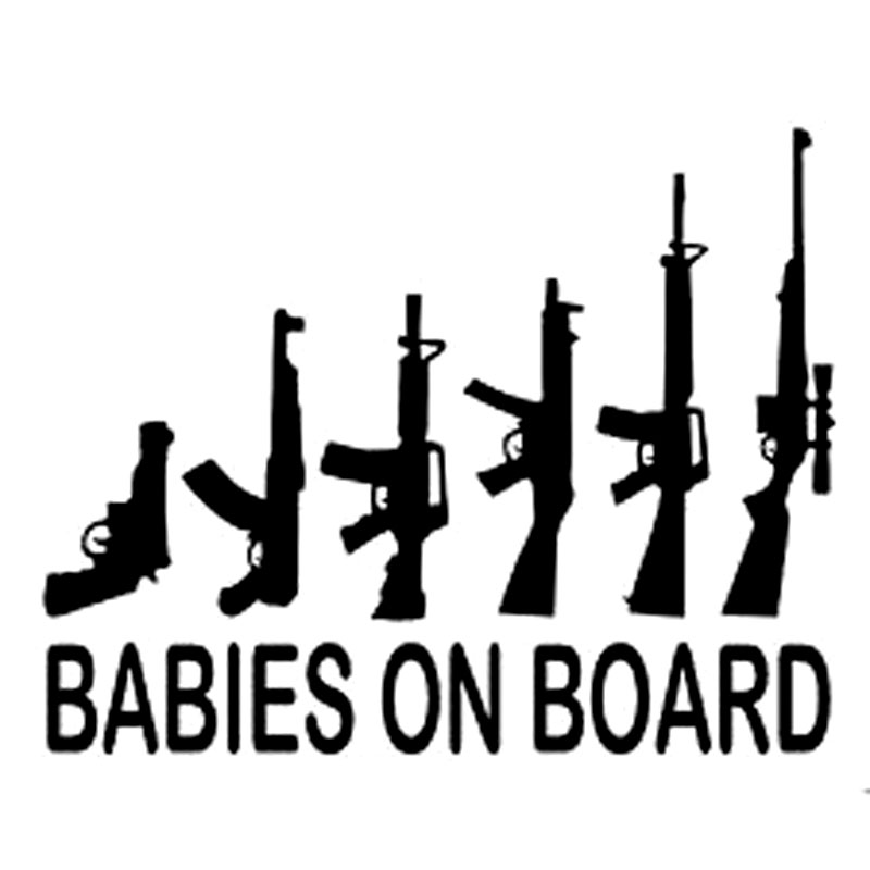 BACK OFF BABY gun on Board Funny Car Graphics Window Sticker Decal US Seller