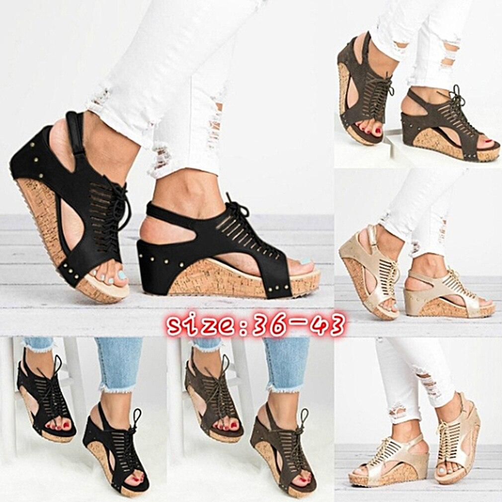 7b8827c3efd Platform Sandals Wedges Shoes For Women Heels Sandalias Mujer Summer Shoes  Clog Womens Espadrilles Gladiator Women Sandals 2019 Sandals High Heels ...