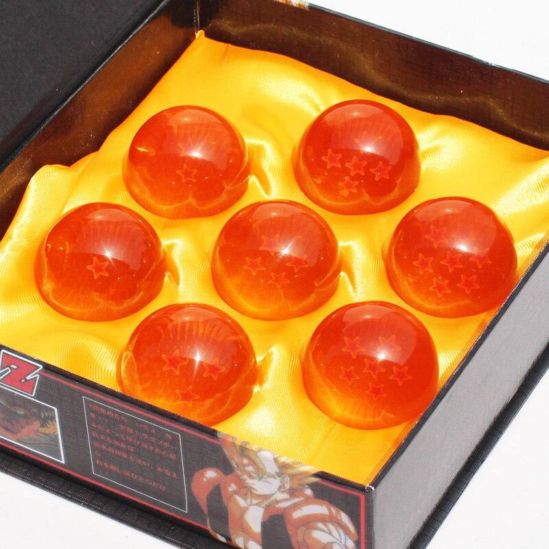 Dragon Ball Z 3.5 cm DragonBall Figura 7 Stelle Sfera di Cristallo Figura I Giocattoli IN PVC 1 ~ 7 Sfere di Cristallo Figure 7 pz/set In Scatola Grande Regalo