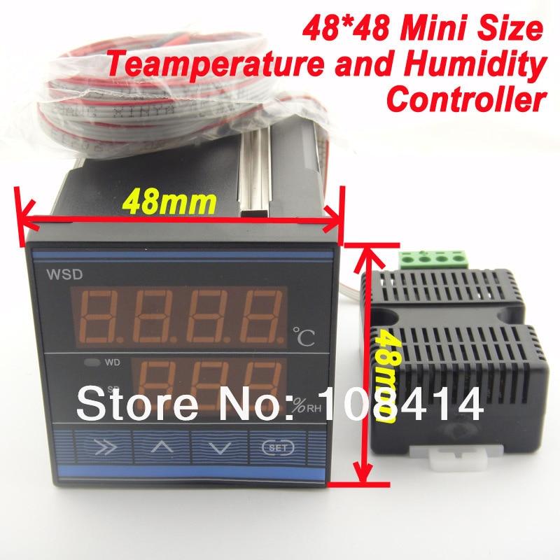 MINI SIZE 1/16  (48*48mm) Digital Humidity Temperature Controller 4 200 4 200 500