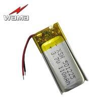 4x Wama 501225 110 mAh akumulator litowo polimerowy 3.7 V akumulator baterie do zestaw słuchawkowy Bluetooth słuchawki słuchawki bezprzewodowe 051225