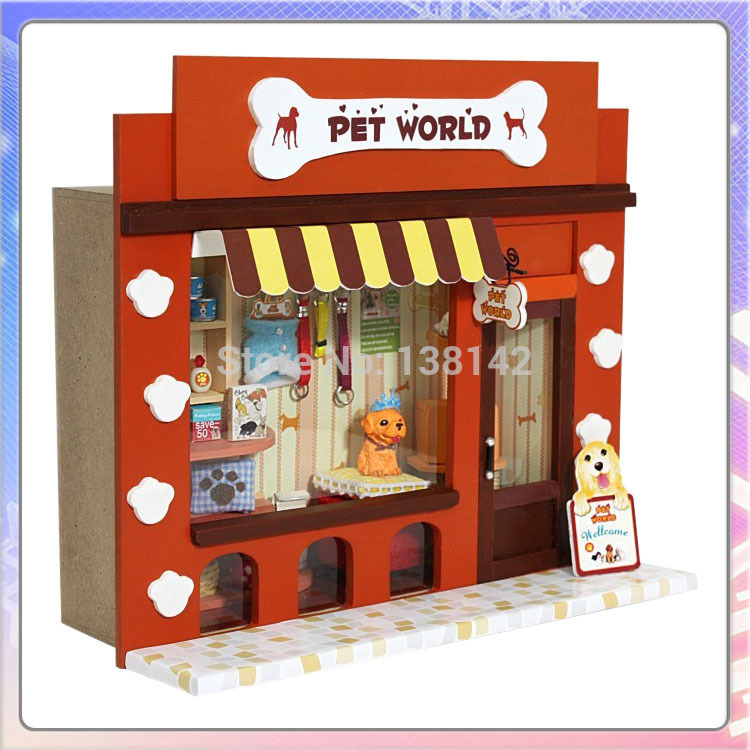 13505 pet paradise european small shops diy dollhouse miniature shop doll house free shippingchina aliexpresscom buy 112 diy miniature doll house