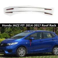 For Honda JAZZ FIT 2014 2017 Roof Rack Rails Bar Luggage Carrier Bars top Racks Rail Boxes Aluminum alloy 3m paste