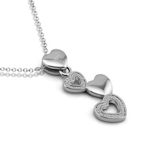 Solid 925 silver heart-shaped pendant. Christmas gifts.Sterling silver necklace fashion sexy women.Charming girl silver jewelry