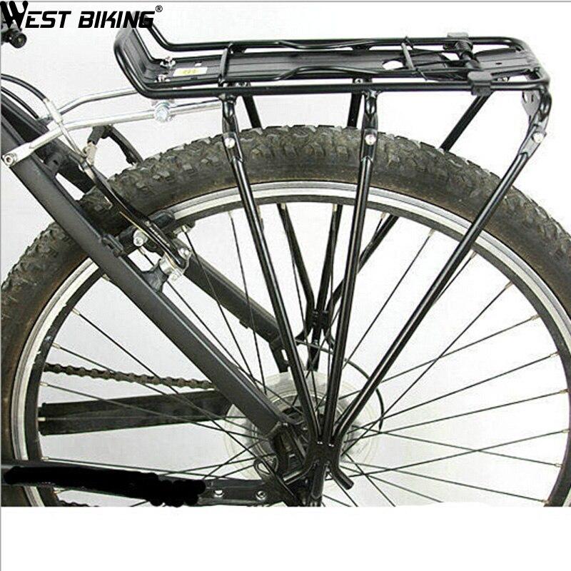 WEST vélo vélo Stand en alliage d'aluminium vélo empilable étagère poupée arrière V disque bagages vélo Rack vélo vélo supports