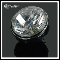 Motocykl Okrągły Chrome Head Light Lampy Halogenowe Reflektory Dla Szerszeń CB1300 CB400 CB500 250 600 900 VTR250 VTEC250
