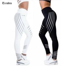 New Woman Fitness Leggings Light High Elastic Shine Leggins Workout Slim Fit Women Pants Black Trousers Leggings