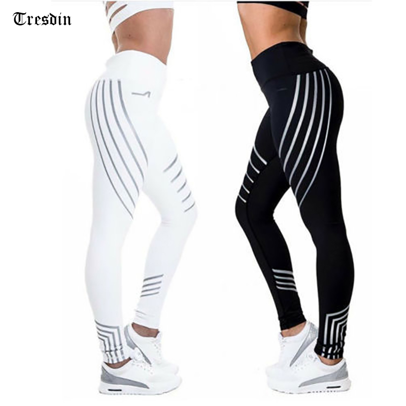 Nueva Mujer Fitness Leggings alta brillo elástica Leggings entrenamiento Slim Fit Mujer Pantalones negro Leggings