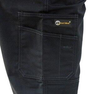 Image 5 - บุรุษขนส่งสินค้าหนักกางเกงกระเป๋าหลายผ้าใบกางเกงทำงานสบายๆสวมทหารยุทธวิธียาวเต็มความยาวกางเกงID627