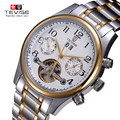 TEVISE New Men's Leisure WatchTourbillon Automatic Mechanical Male Form Multi-function Six-pin Watch relogio masculino 5351