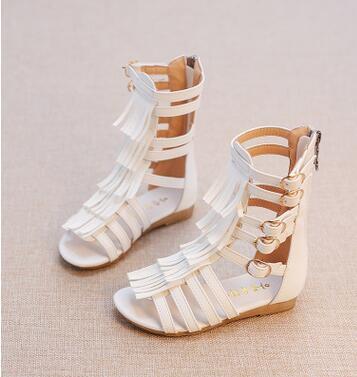 2017 meninas de verão sandálias de moda em couro pu meninas sandálias crianças sandálias gladiador romano sandálias da criança do bebê de alta qualidade shoes