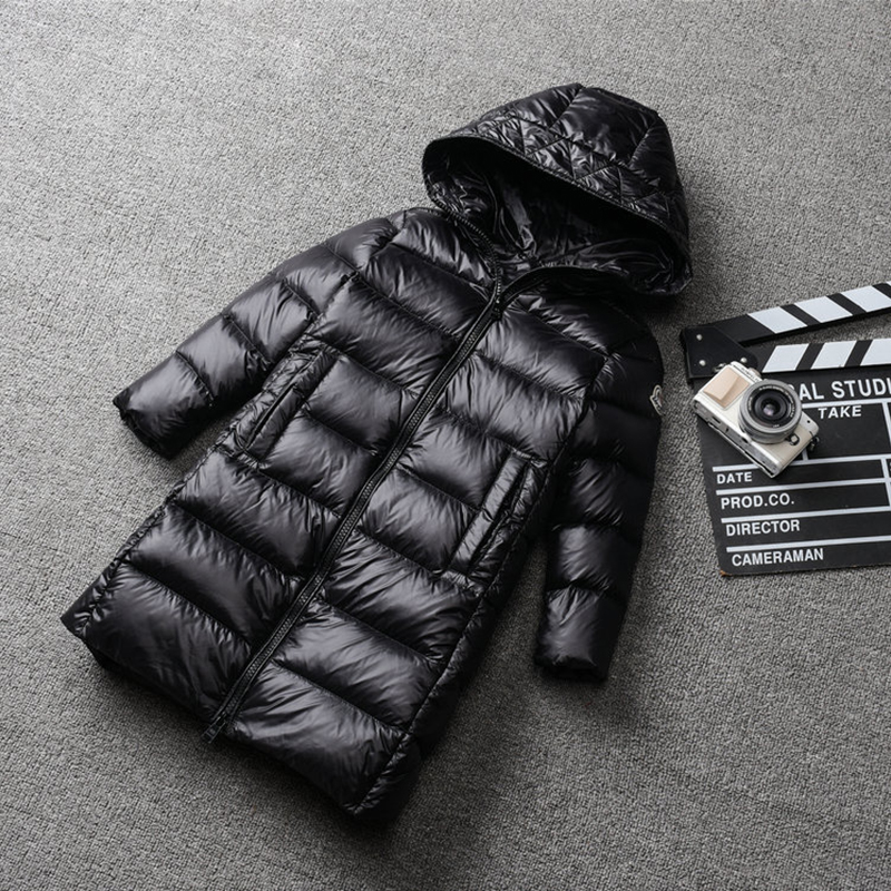 1-12 Years Kids Down Coat Thick Warm Boys Girls Winter Clothes Outwear White Duck Long Hooded Children Down Jacket Snow Wear