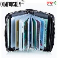 COMFORSKIN Marke RFID Stil Kartenhalter 2017 Neuheiten Unisex multifunktionale Stil Kreditkartenetui Geldbörse Mit PVC Bank