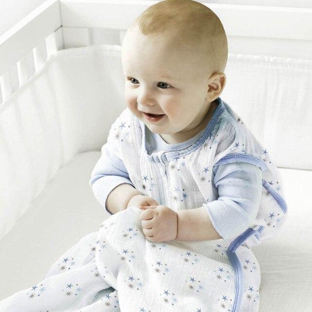 2016 Rushed New Geometric Kids Sleeping Bags Pillow Uyku Tulumu Baby Newborn Cotton Muslin Sleeping Bag Sleepsacks 0-24 Months