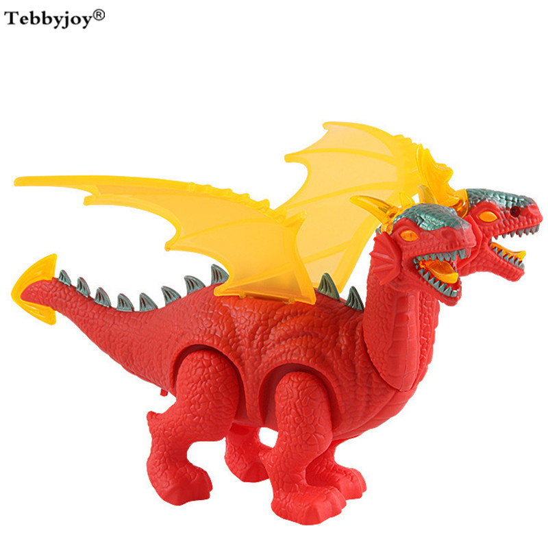 Long Wings toys Walking Dinosaur Robot Projection With Light Sound New Electric toy Battery Operated kid Children Boy Girl Gift